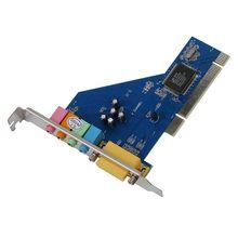 4-канальный C-Media 8738 чип 3D аудио стерео внутренняя PCI Звуковая карта Win7 64 бит