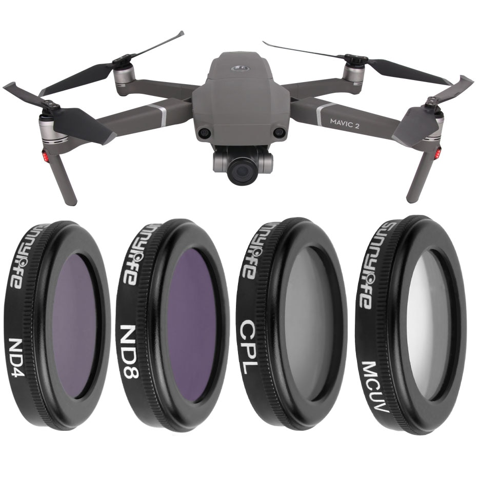 For DJI Mavic 2 Zoom Neutral Density ND4+ND8+MCUV+CPL Polar Drone Filter Set For Mavic2 Zoom Accessories Glass Lens Protector