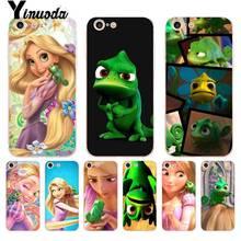 Yinuoda pour iPhone 7 6 X Coque emmêlée raiponce caméléon Coque téléphone étui pour iPhone 8 7 6 6S Plus X 5 5S SE XR XS XSMAX