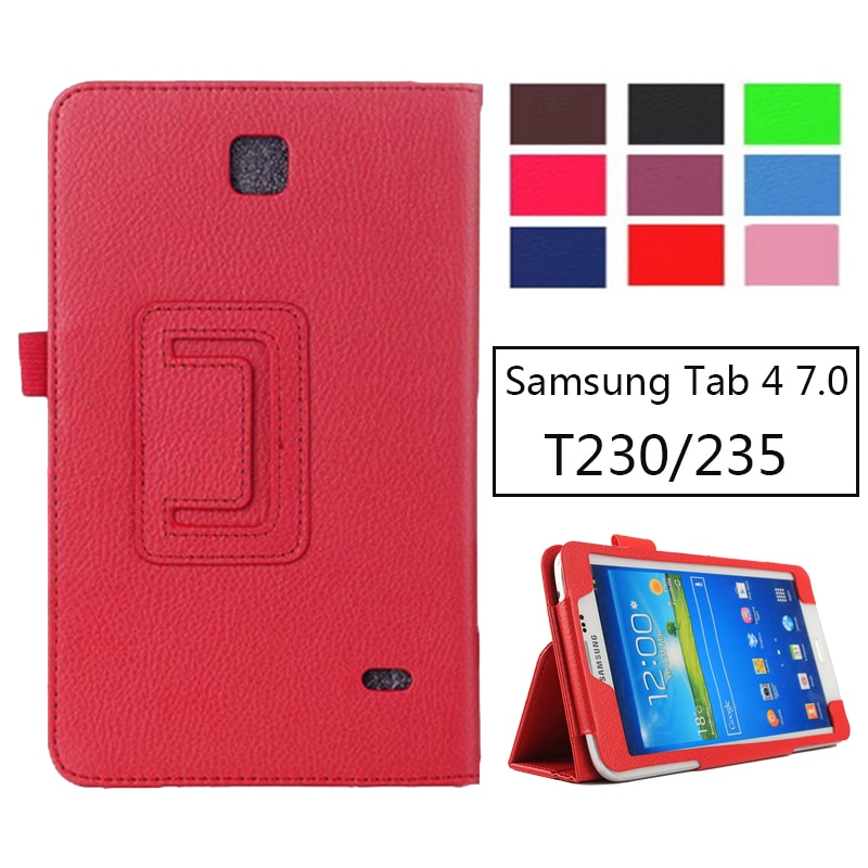SM-T231 SM-T230 Чехол-книжка из искусственной кожи личи для Samsung Galaxy Tab 4 7,0 T230 T231 T235 Чехол-Подставка 7 дюймов планшет
