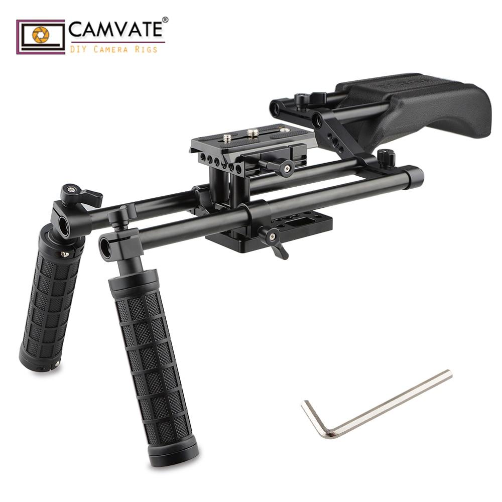 CAMVATE Professionelle DSLR Video Kamera Rigs & Unterstützt C1750 kamera fotografie zubehör