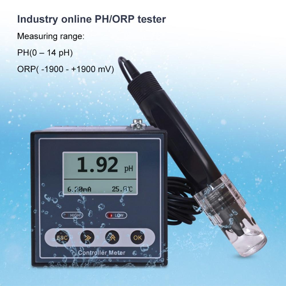Nuevo PH-110 en línea Digital Industrial Ph /ORP medidor electrodo Sensor Ph sonda para detección de aguas residuales, Control de dosificación, Relación ácido-base