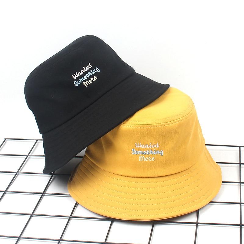 2019 New Fisherman Hat women Female New Letters Embroidery Basin Cap Men Spring and Summer Outdoor Wild men bucket sun hats