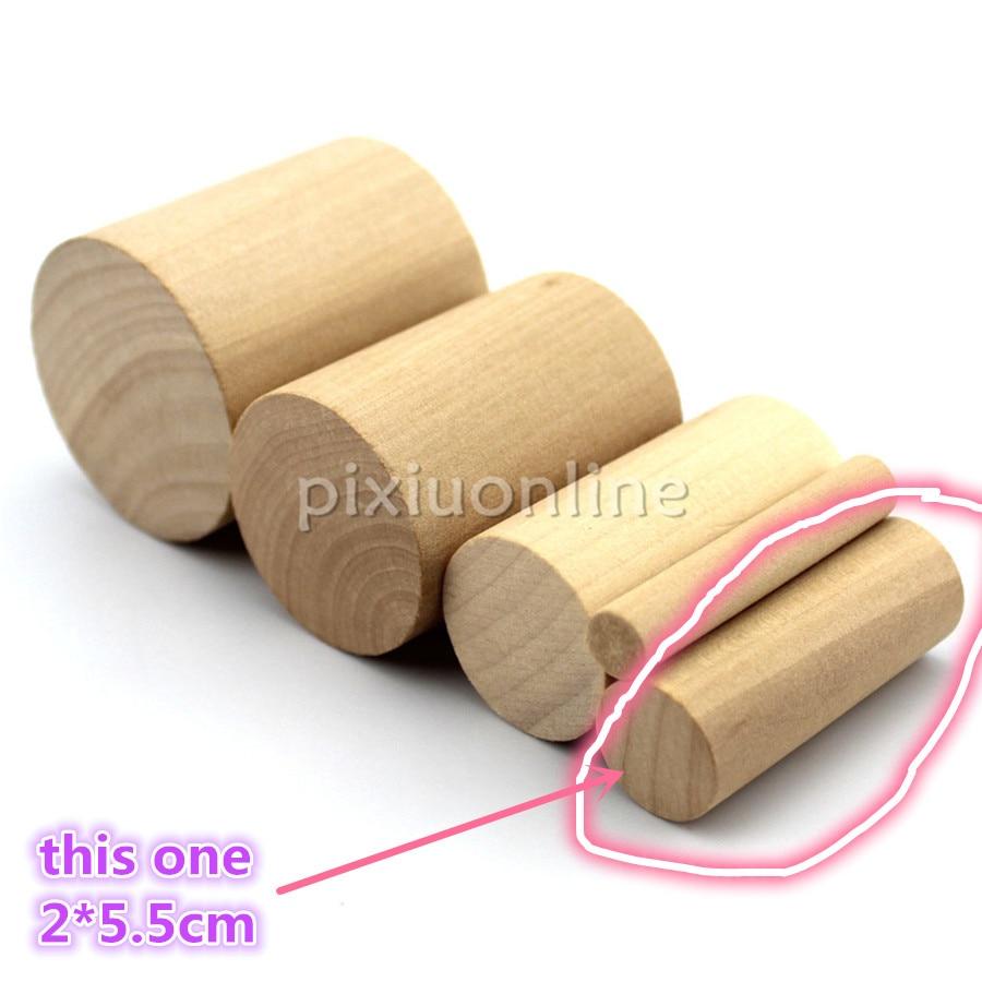 5 шт. J560b Гладкий цилиндрический сосновый деревянный блок деревянный цилиндр 2*5,5 см сделка палка DIY модель корабль дом детей использование Ко...