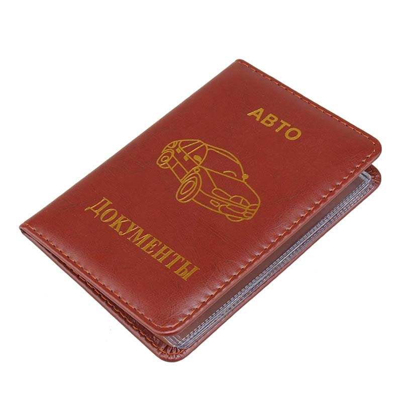 Hot Deals PU Leather on Cover for Car Driving Documents Card Credit Holder Russian Auto Driver License Bag Purse Wallet Case passport cover genuine leather driver license bag crazy horse leather car driving document credit card holder purse wallet case