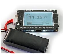 RC C6 haute précision alarme batterie indicateur Lipo batterie tension indicateur volt mètre moniteur buzzer alarme
