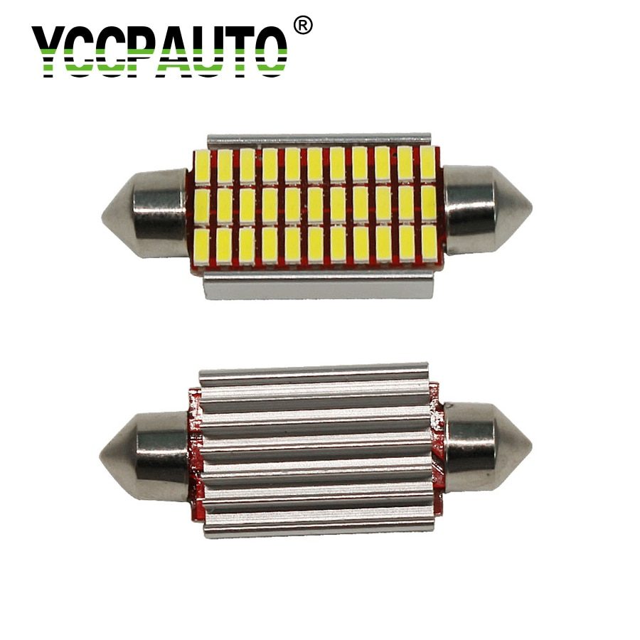 YCCPAUTO-ampoule de bus C5W   Led de 31mm 36mm, Led 39mm 42mm 4014SMD, Festoon de lecture intérieure blanc 1 pièce