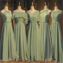 modabelle 5 Styles Green Bridesmaid Dresses Long Vestidos De Gasa Chiffon Elegant Dress For Wedding Party Robe Fille D'honneur