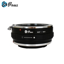 Fikaz para Minolta AF-NEX Cámara anillo adaptador de montura de lente para Minolta AF lente Sony NEX E-mount NEX-3C NEX-5N NEX-6 cuerpo
