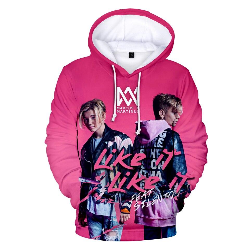 Sudadera con capucha de manga larga con estampado 3D de marco y Martinus Sudadera con capucha para niños niñas Hip Hop Streetwear chaqueta abrigo ropa de marca