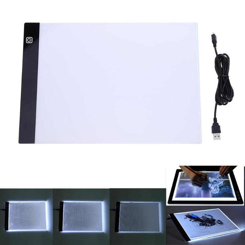 A4 LED Artist Thin Art Stencil Drawing Board Light Tracing Table Pad Digital Tablet Artcraft Drawing Diamond Painting