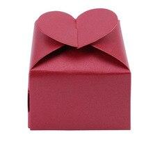 Boîte à dragées pour invités 10 pièces/lot, coffret demballage à bonbons en forme de cœur amour coloré pour les invités, offre spéciale