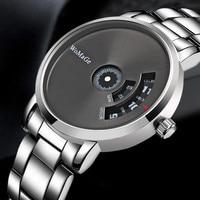 Креативные Часы 2021 новые стильные серебряные круглые циферблат кварцевых часов полностью Стальные наручные часы горячие часы montre homme