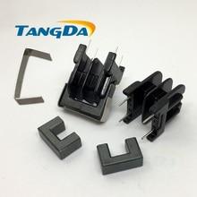 Tangda UF16 النواة UF بكرة المغناطيسي النواة + الهيكل العظمي 2 + 2 دبوس المحولات DIP الأفقي UU16 AG