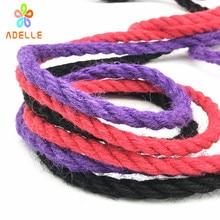 7 colors Jute Twine Rope 4/6mm colored Strong twisted bondage Rope shibari kinbaku sex toys product free shipping 25m