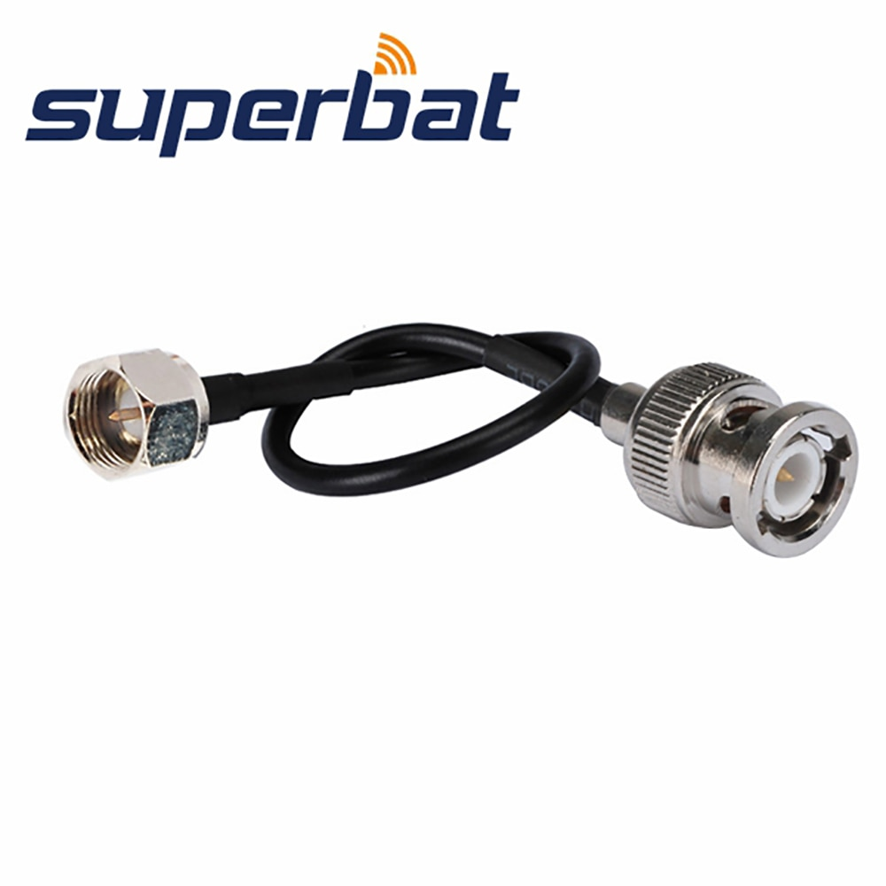 superbat universal n cable n male plug to plug rg400 15cm custom cable rf coaxial cable Superbat BNC Male Plug Straight to F Male Sstraight Pigtail Cable RG174 15cm BNC Extension Cable RF Coaxial Cable