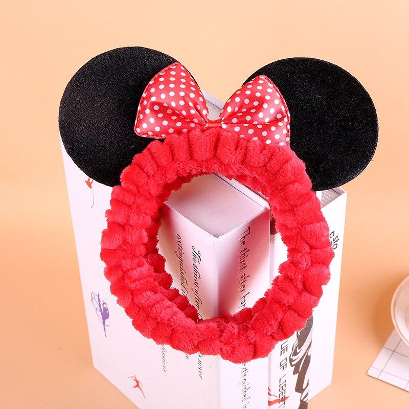 Disney cartoon Mickey Mouse Children headband  doll bow head hoop accessories headwear girl kid birthday gift cosmetic hair ring