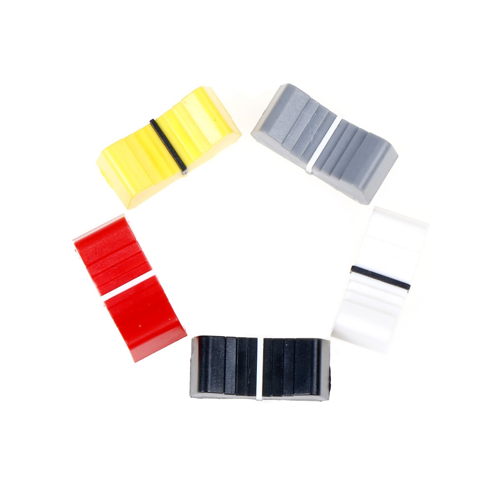 10 Uds. Tapa del botón para interruptor, tapa de palanca de mando, atenuador sensible al tacto, mesa de mezclas de 8mm