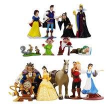 3-15cm la belle au bois dormant et la bête blanche neige et les sept nains princesse reine sorcière princesse figurine modèle jouets