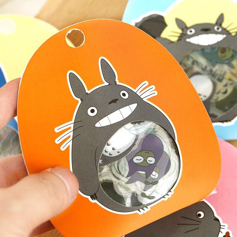 60pcs/pack Kawaii Cute Totoro DIY Clear Stickers Decorative Diary Book Album Stick Label Paper Decor