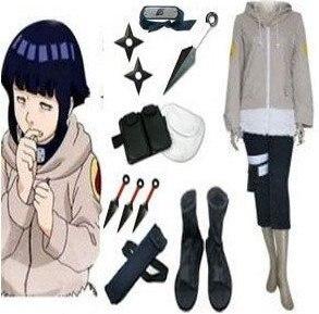 Anime Naruto Cosplay clothing- Naruto cosplay Hinata Hyuga Bundle Big Promotional Package Cosplay Costume Set Freeshipping