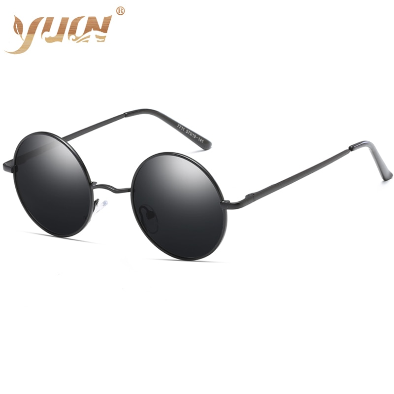 Gran oferta, gafas de sol polarizadas baratas, gafas de sol de montura pequeña y redonda vintage para mujer, gafas de colores de moda clásicas