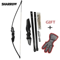 30 and 40lbs archery primary hunting bow recurve takedown bow gift finger guard black youth adult beginning hunting bow