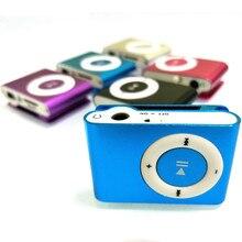 HAMNOL 2017 Mini reproductor MP3 MP3 Clip soporte tarjeta Micro SD MP3 + auriculares estéreo + Cable de carga USB gran oferta