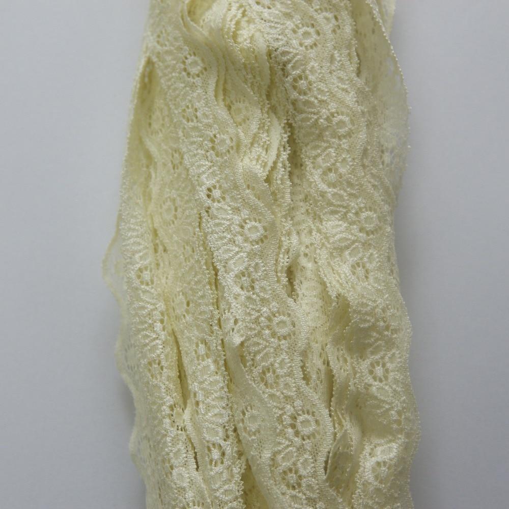 clearance 90 yards 27mm width light yellow Elastic Stretch Lace trim DIY headband sewing/garment accessories C44