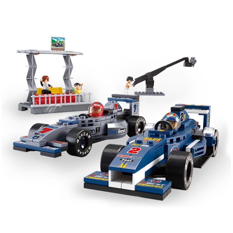 Modelo de construcción Sluban B0355 300 Uds Kits de construcción de modelos juguetes clásicos hobby F1 Racing Car Group