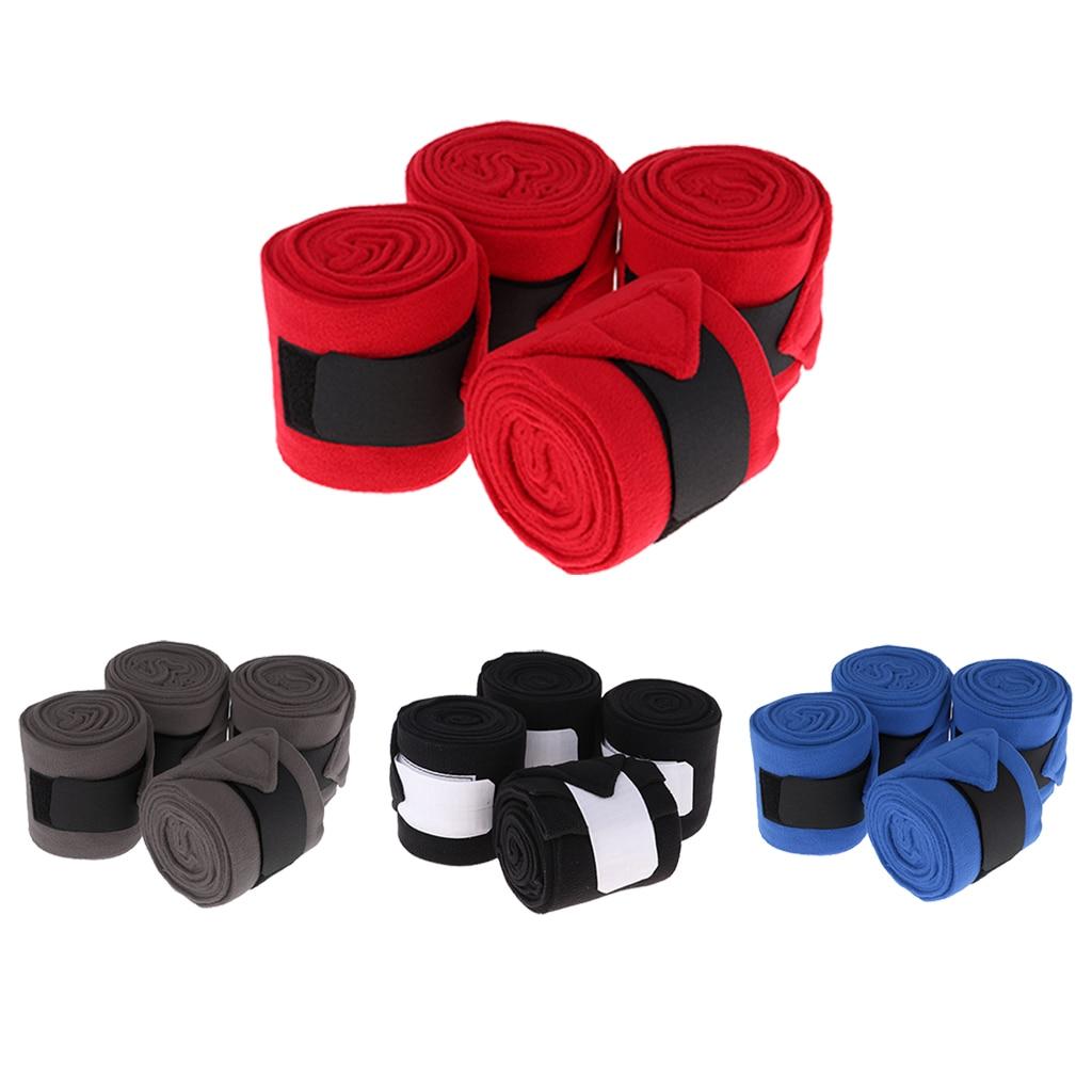 4 Pcs Horse Polo Wraps Pony Legging Wrap Bandage Polo Outdoors Equestrian Boots Bracer Leg Wraps Equestrian Equipment