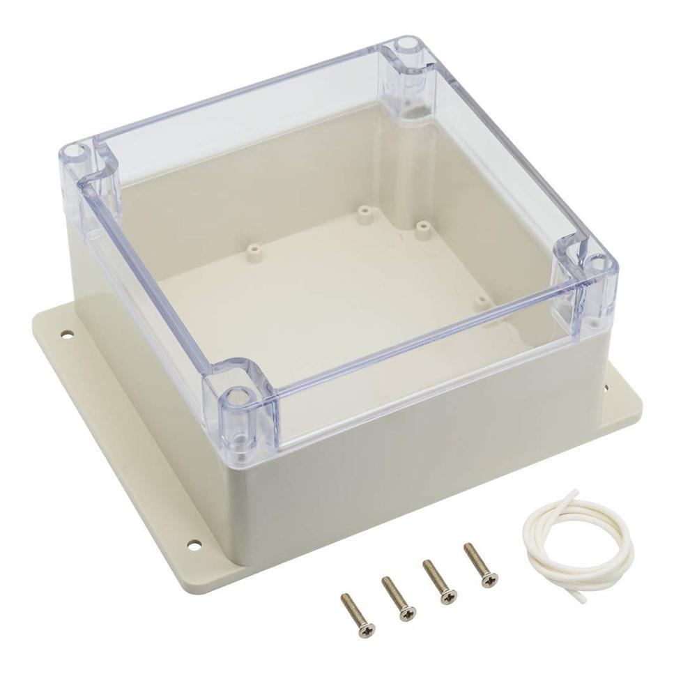صندوق وصلات بلاستيك ABS ، 160 × 160 × 90 مللي متر ، مقاوم للماء والغبار ، مشروع كهربائي عالمي ، غطاء شفاف للكمبيوتر الشخصي