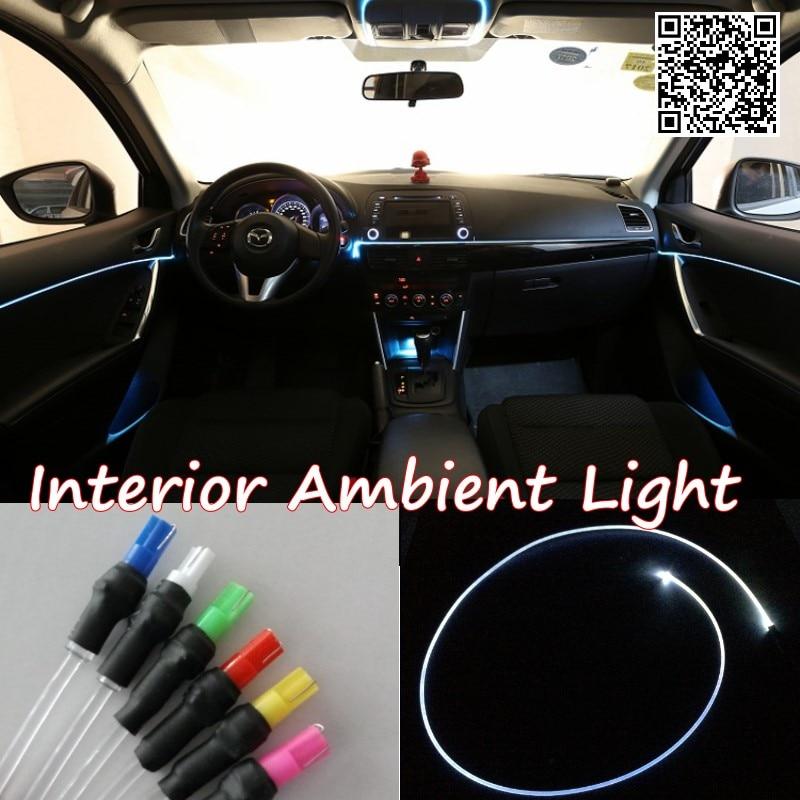 For Chevrolet LOVA 2006-2010 Car Interior Ambient Light Panel illumination For Car Inside Cool Strip Light Optic Fiber Band