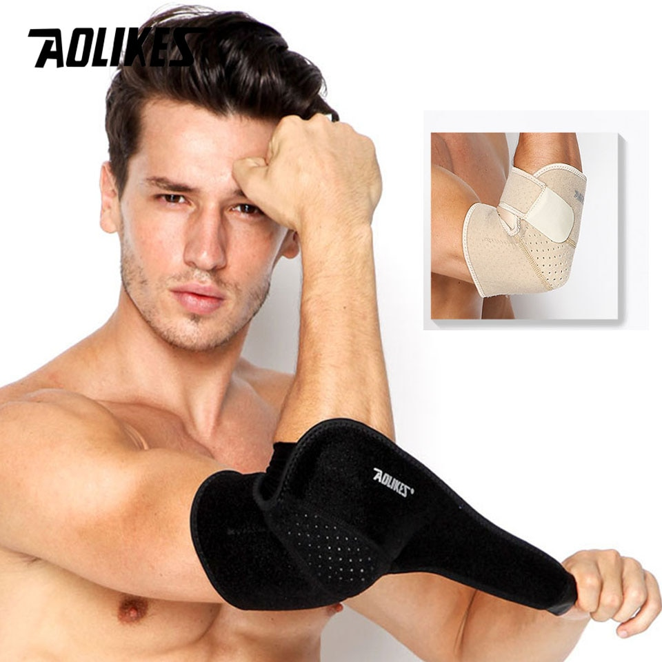 AOLIKES 1PCS Adjustable Breathable Elbow Support Pads Coderas Arm Protective Gear Sports Safety For