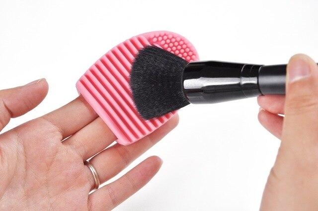 Limpiador de pinceles para maquillaje, limpiador de goma para mano, accesorio cosmético para el dedo, limpieza de pinceles, 2019 1 unidad