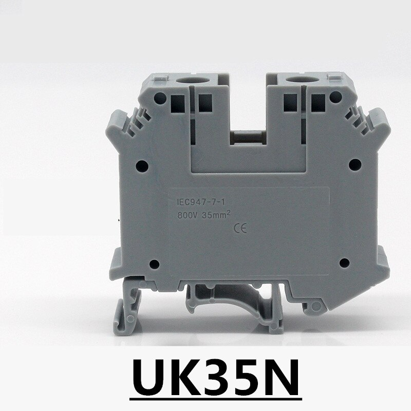 UK35N cinza/cor azul universal blocos de terminais/conector do bloco terminal de conexão 35mm Selo sheel UK35N 10 PCS