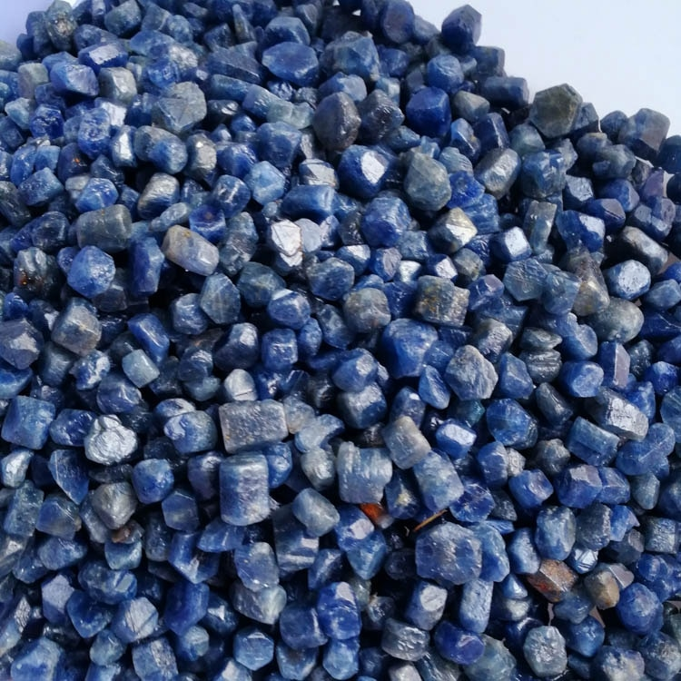 Verdadeiro Rara 6-12MM Faceta Natural Não Aquecida azul Safira Corindo Mnerals Bruto Specimen Cura Cascalho Do Aquário Do Tanque de Peixes pedras