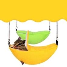 Banane Design Hamster pour animaux   Maison suspendue, hamac pour petits animaux, Cage en coton, nid de couchage pour animaux, lit pour animaux, Rat Hamster, jouets, Cage balançoire, nouveau