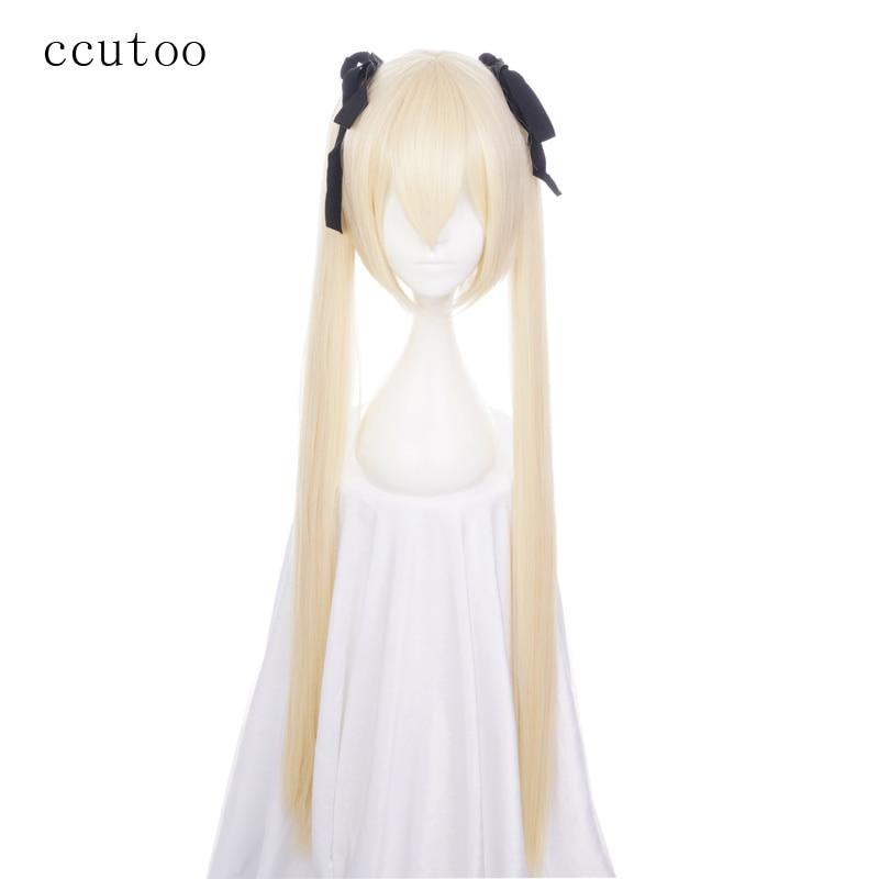 Peluca de Cosplay ccutoo Yosuganosora Kasugano Sora In solite, peluca de pelo sintético Rubio de 100 cm, peluca de fibra resistente al calor