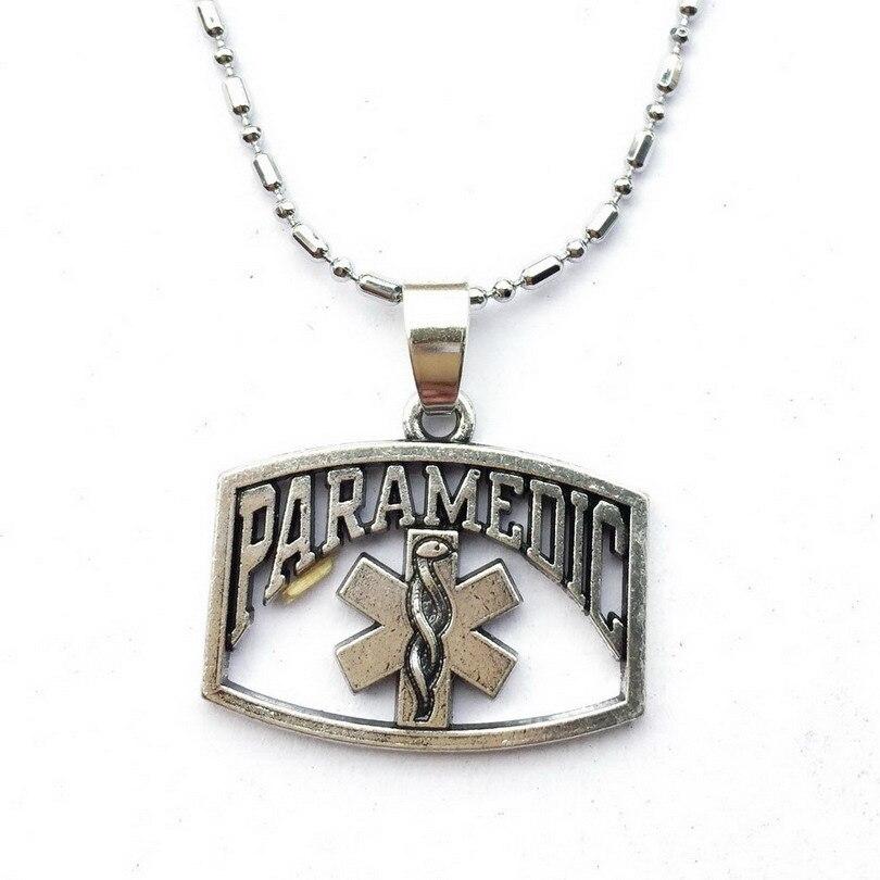 2 uds. Collar de símbolo paramédico EMT, paramédica de esposa joyería, regalo de conductor de ambulancia para paramédico