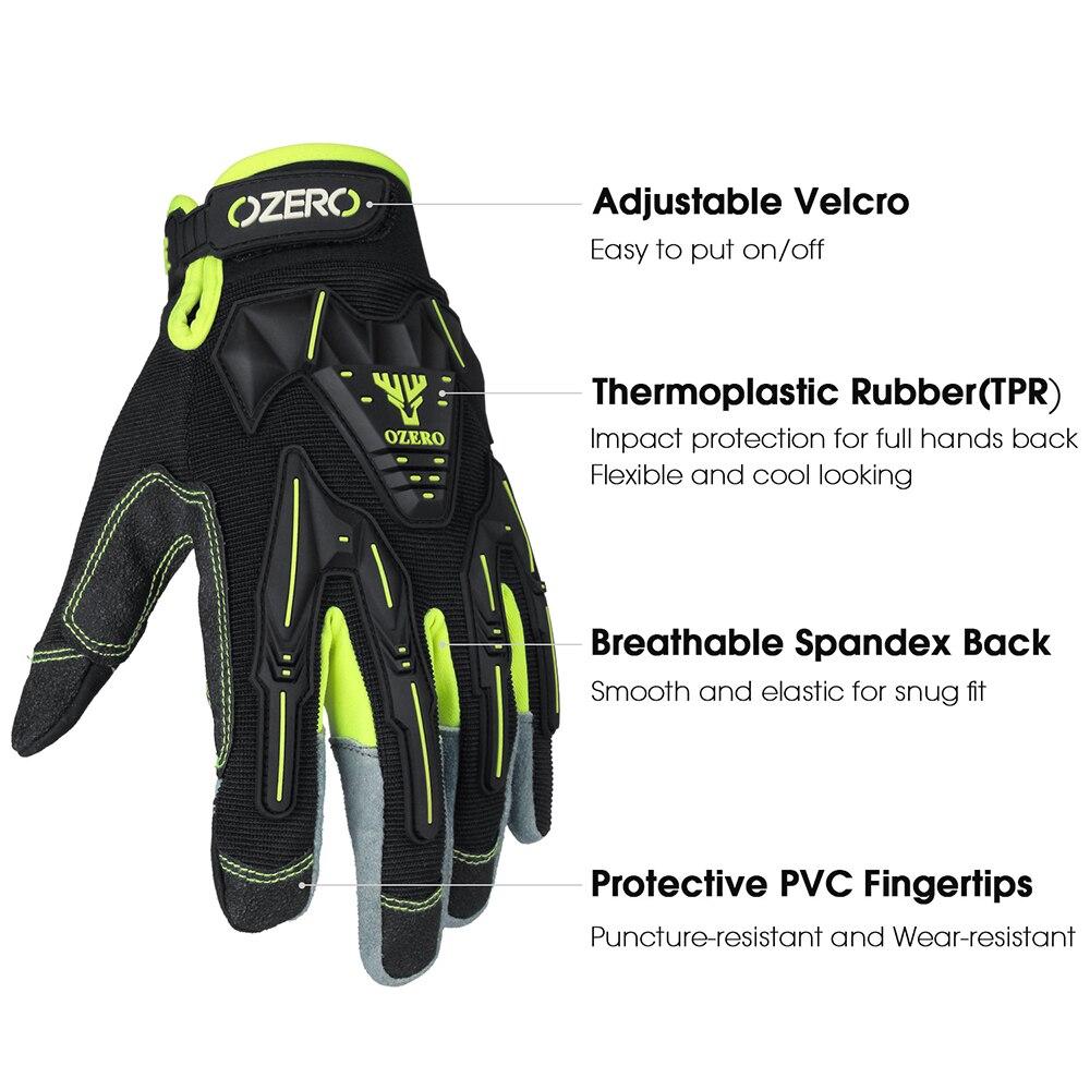 OZERO Motorcycle Gloves Dirt Bike Mechanic Glove Shooting  Patrol   ATV Driving Racing AndTouch Screen Fingertips Gloves  8016 enlarge
