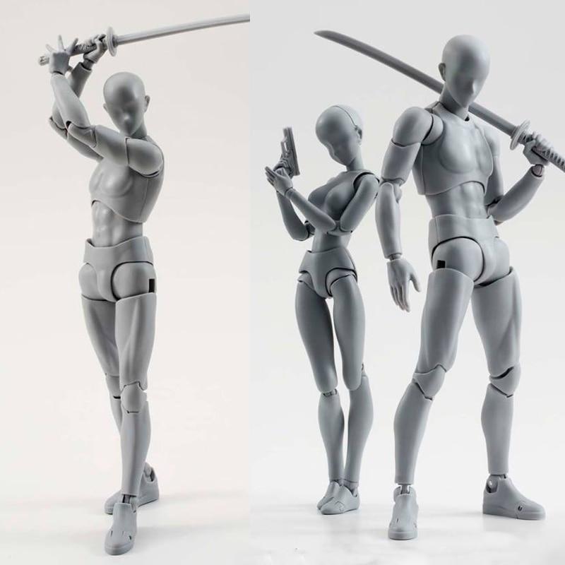 14 см художественная живопись художника аниме Рисунок SHF Эскиз Рисование мужской женский подвижное тело Чан совместное действие фигурка игрушка модель Рисование манекен