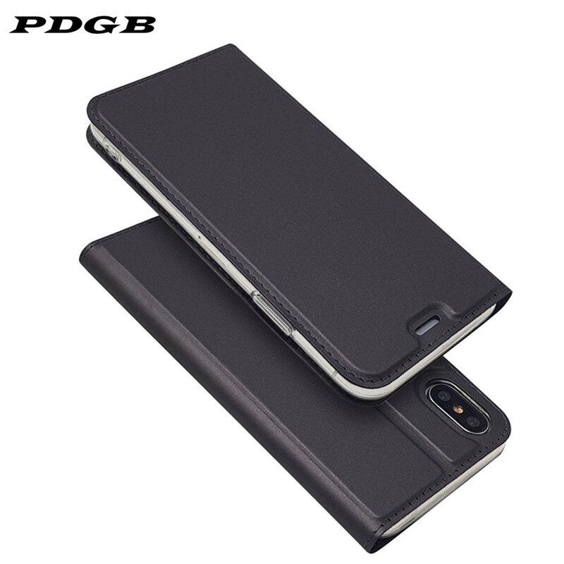 Funda de cuero plegable PDGB para Xiaomi mi 9 8 Lite A1 A2 5X 6X mi x 2 2S Note 3 7 rojo mi 6A 6 Pro funda de lujo para teléfono