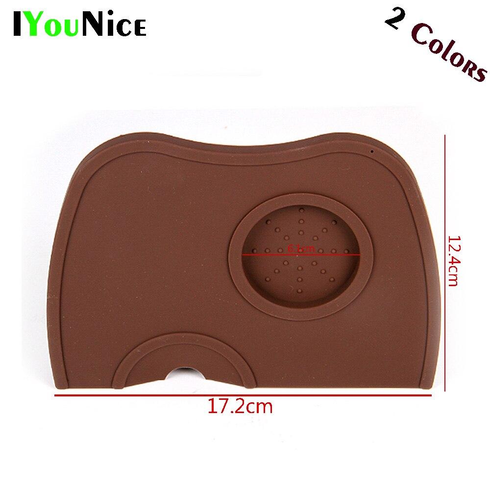 1 шт. силиконовый резиновый угловой коврик IYouNice для темпера кофе черный (без