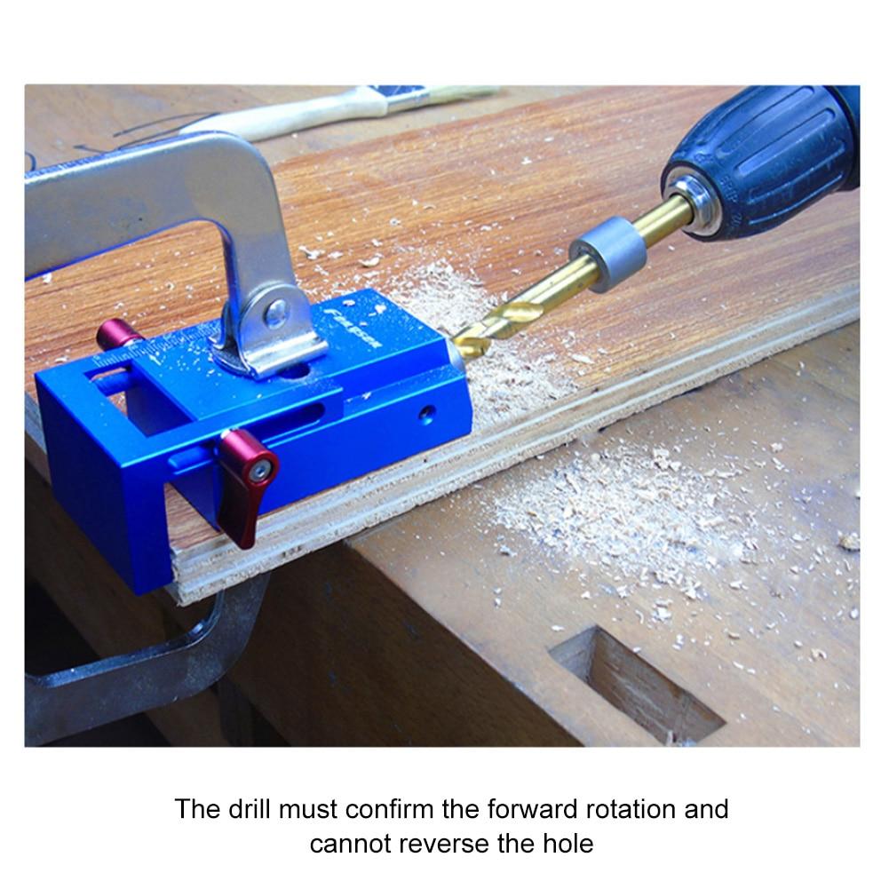 Pocket Hole Jig Step Drill Bit Set Dowel Drilling Guide Slant Hole Jig Woodworking Locator Tools SDF-SHIP