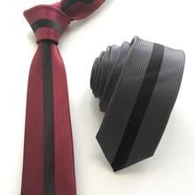 2019 Designer Panel Necktie Vertical Striped Gravata for Men Party Ceremony Skinny Ties