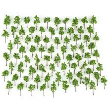 Heißer 100 stücke Grün Modell Bäume für N Z skala layout Garten Pack Straße 38mm Neue