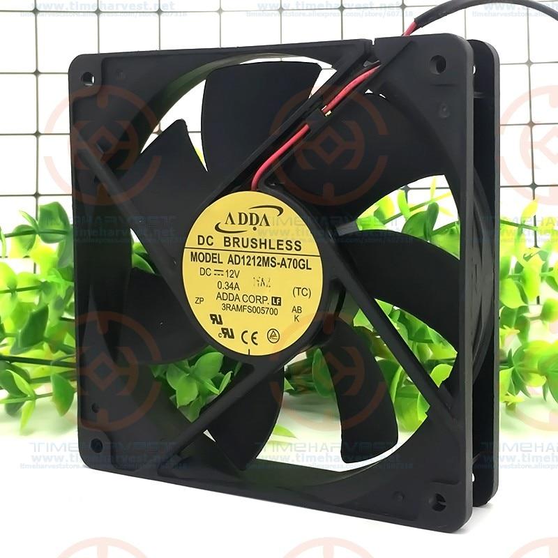 Ventilador de refrigeración de plástico de 12V, ventiladores de 12cm x 12cm...