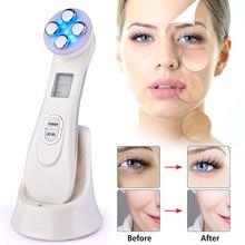 Électroporation LED Photon Facial RF radiofréquence rajeunissement de la peau EMS mésothérapie pour resserrer le traitement de beauté du lifting