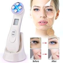 Elektroporatie Led Photon Facial Rf Radio Frequentie Huid Verjonging Ems Mesotherapie Voor Draai Gezicht Lift Schoonheid Behandeling